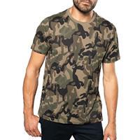 Kariban Soldaten / leger verkleedkleding camouflage shirt heren Groen