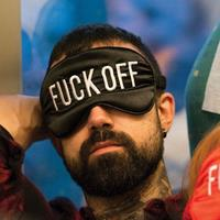 Fisura Slaapmasker Fuck Off - Zwart