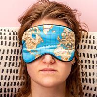 Kikkerland Wereldkaart slaapmasker