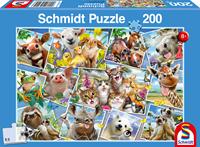 schmidt Dieren Selfies 200 stukjes - Puzzel