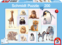 schmidt Wilde Babydieren 200 stukjes - Puzzel