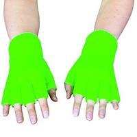 Handschoenen vingerloos fluor groen