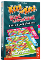 999 Games Keer op Keer Scoreblok 3 stuks Level 5 6 en 7 - Dobbelspel