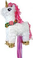 Amscan piñata eenhoorn 50 cm wit