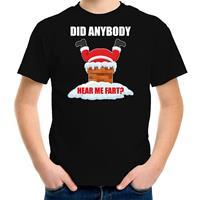 Bellatio Decorations Fun Kerstshirt / outfit Did anybody hear my fart zwart voor kinderen
