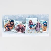 tadaaz Kerstkaart fotocollage en sneeuwvlokken