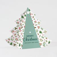 tadaaz Kerstboomkaartje met takjes en besjes