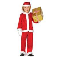 Merkloos Budget pluche Kerstman verkleed kostuum voor kinderen