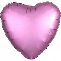 Amscan folieballon hartje 43 cm roze