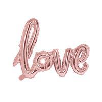 Folie Script Love 73 cm x 59 cm - Rosé Goud