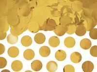 Folie confetti rond 2,5 cm 15 gr - Goud