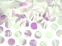 Folie confetti rond 2,5 cm 15 gr - Parelmoer