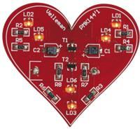 Velleman ledverlichting MK144 SMD hart 49 x 44 mm rood