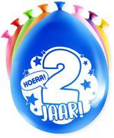 Paper Dreams ballonnen Party 2 jaar 18,5 x 11 cm latex 8 stuks