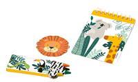 Amscan feestpakket wilde dieren papier 24 stuks