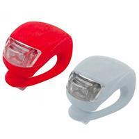 Geeek LED Fietslampje 2 stuks (rood&wit)