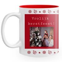 """Wanapix Keramische Kerst Mok """"Red Christmas"""" met foto en tekst bedrukken"""