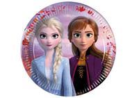 Procos feestborden Disney Frozen II 16 cm papier lila 8 stuks