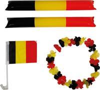 Velleman supporterskit België PVC zwart/geel/rood 4-delig