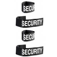 Merkloos Set van 4x stuks security polsband voor volwassenen