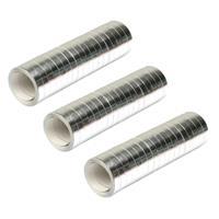 Merkloos Pakket van 6x stuks serpentine rollen metallic zilver 4 meter -