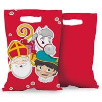 Boland Feestzakjes Sinterklaas 23 Cm Polyetheen Rood 6 Stuks