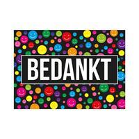 Bellatio Decorations 25x stuks bedankt ansichtkaart/wenskaart A5-formaat -