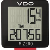 VDO fietscomputer M Zero WR807 zwart/rood