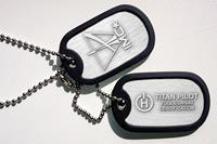 Level Up Wear Titanfall Pilot Dog Tags