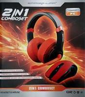 Dragon War Mouse + Headset 2in1 Comboset (Rood)