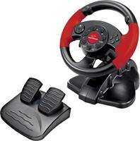 Esperanza Hight Octane Steering Wheel with Pedals for PC/PS1/PS2/PS3 180° Rotation Vibration Force Effect EG103