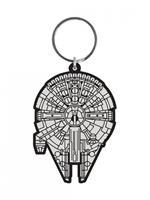 Pyramid International Star Wars Rubber Keychain Millennium Falcon 6 cm