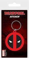 Pyramid International Marvel Comics Rubber Keychain Deadpool Symbol 6 cm