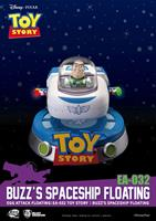 Beast Kingdom Toys Toy Story Egg Attack Floating Model with Light Up Function Buzz' Spaceship 13 cm