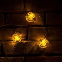 Groovy Harry Potter String Lights Hogwarts Crests
