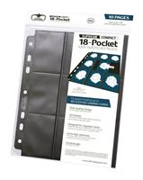 Ultimate Guard 18-Pocket Compact Pages Mini American Black (10)