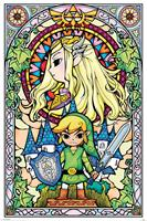 Pyramid International Legend of Zelda Poster Pack Stained Glass 61 x 91 cm (5)