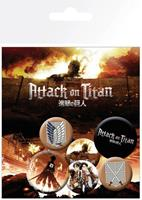 GYE Attack on Titan Pin Badges 6-Pack Characters