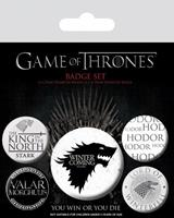 Pyramid International Game Of Thrones Pin Badges 5-Pack Winter Is Coming