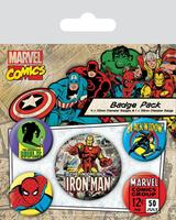 Pyramid International Marvel Comics Pin Badges 5-Pack Iron Man