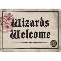 Half Moon Bay Harry Potter Tin Sign Wizards Welcome 21 x 15 cm