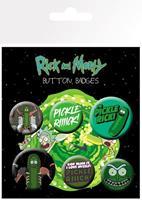 GYE Rick and Morty Pin Badges 6-Pack Pickle Rick