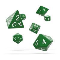Oakie Doakie Dice RPG Set Solid - Green (7)