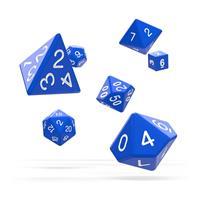 Oakie Doakie Dice RPG Set Solid - Blue (7)