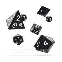 Oakie Doakie Dice RPG Set Solid - Black (7)