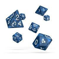 Oakie Doakie Dice RPG Set Marble - Blue (7)