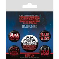Pyramid International Stranger Things Pin Badges 5-Pack Characters