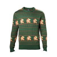 Difuzed The Legend of Zelda Sweater Link Christmas green Size XL