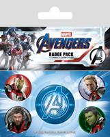 Pyramid International Avengers: Endgame Pin Badges 5-Pack Quantum Realm Suits