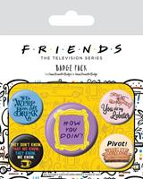 Pyramid International Friends Pin Badges 5-Pack Quotes